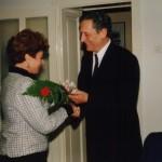 Јасна Симић, директор архива /1984-1994/ и Радован Срдић, 1998. година