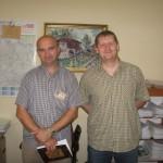 Ненад Бањац и војник у цивилу Бобан Сламај