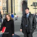 Директор Дејан Мостарлић и Мирјана Теодоровић, 2006. године
